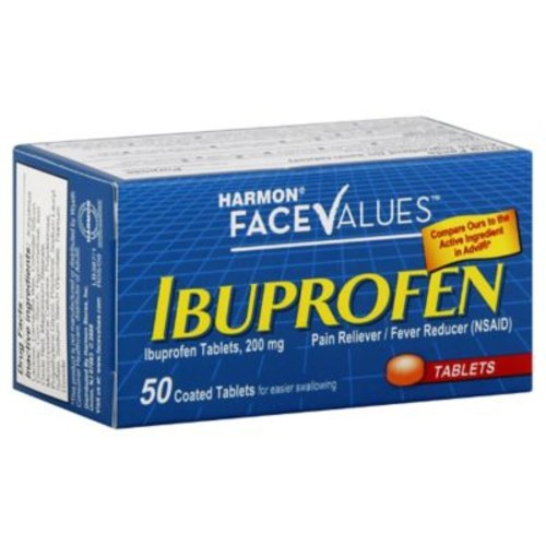 Harmon Face Values Ibuprofen 50-Count 200 mg Tablets