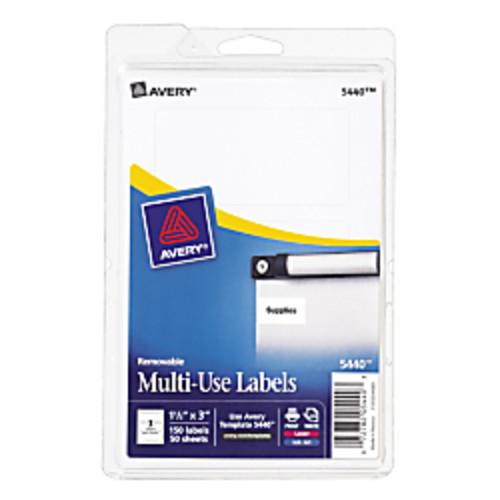 Avery Removable Inkjet/Laser Multipurpose Labels, 1 1/2