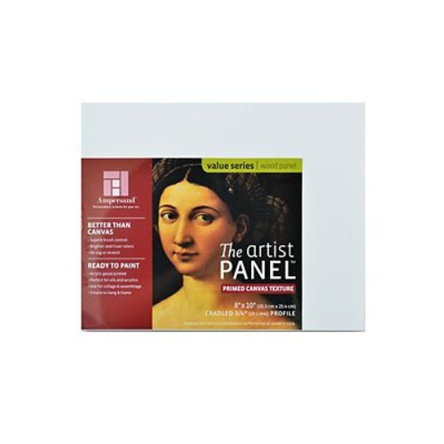 Ampersand The Artist Panel Canvas Texture Cradled Profile 8 in. x 10 in. 3/4 in. [Pack of 3]