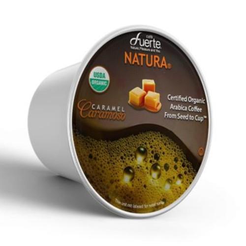FUERTECaramoso, K-Cup Compatible Pod, Caramel, USDA Organic Arabica Coffee, 18/PK. (KCC-8162)