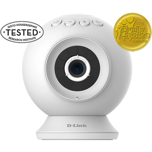 D-Link HD WiFi Baby Camera with Temperature Sensor, Personalize Audio, 2-Way Talk, Local and Remote Video Baby Monitor App (DCS-825L)