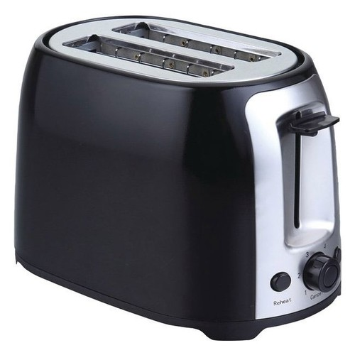 Brentwood Cool Touch 2-Slice Wide-Slot Toaster, Black/Stainless Steel