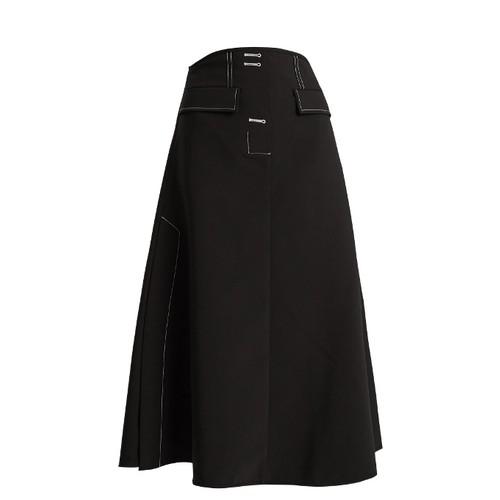 Eunice A-line midi skirt