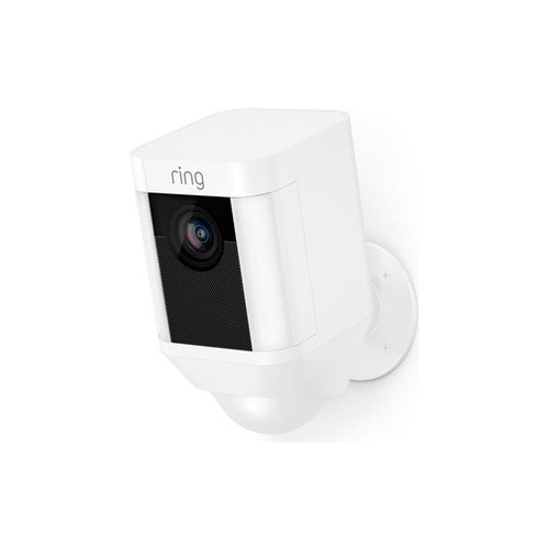 Ring Spotlight Cam Battery (White) Battery-powered security camera with LED spotlights and siren