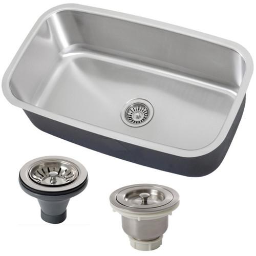 Phoenix 31.5-inch Stainless Steel 18 Gauge Undermount Single Bowl Kitchen Sink