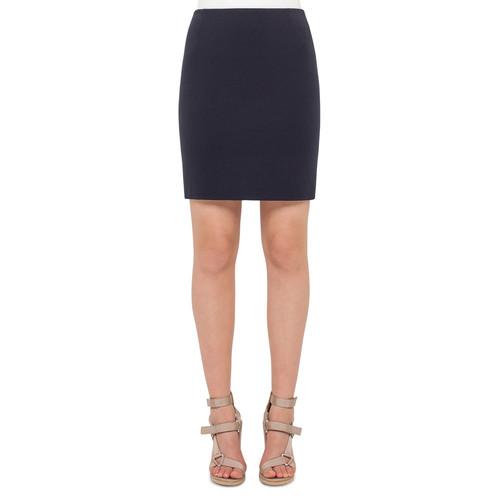AKRIS PUNTO Stretch-Jersey Mini Skirt, Denim