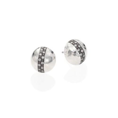 Ippolita - Glamazon Stardust Diamond & Sterling Silver Dome Stud Earrings