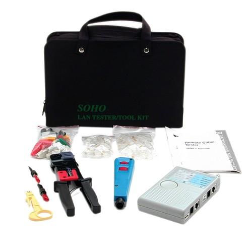 StarTech CTK400LAN Professional RJ45 Network Installer Tool Kit with Carrying Case [Network Installer Kit]