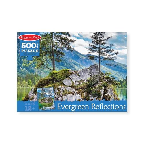 Melissa & Doug Evergreen Reflections Cardboard Jigsaw Puzzle - 500 piece