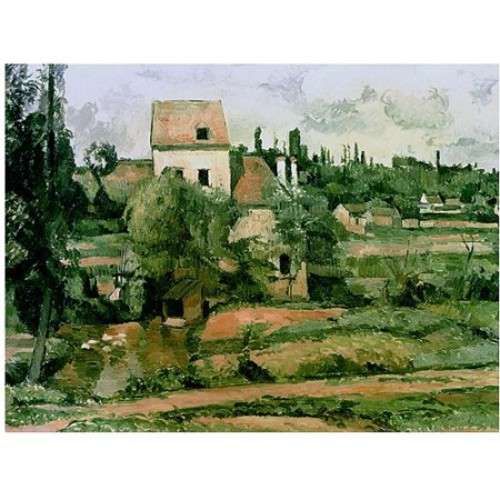 Paul Cezanne 'Moulin de lad Couleuvre Pontoise' Canvas Art