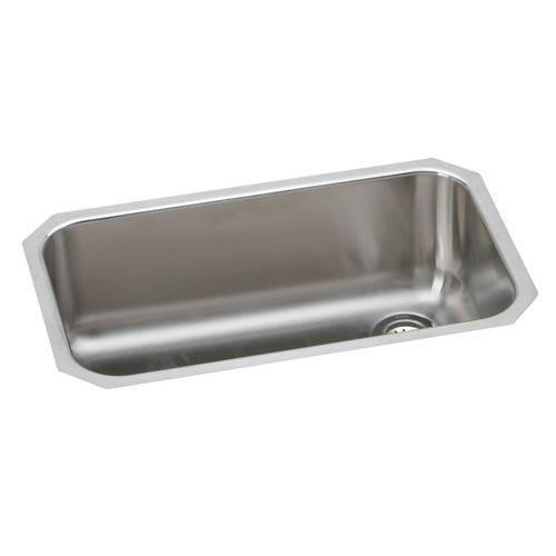 Elkay EGUH281610R Gourmet Elumina Undermount Sink, Stainless Steel