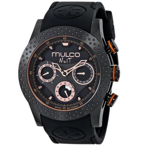 Mulco Women's MW51962260 'Nuit Mia' Chronograph Black Rubber Watch