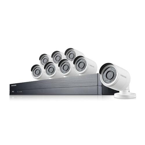 Samsung 16x8-Channel 1080p Full HD Bullet Camera Indoor/Outdoor DVR System