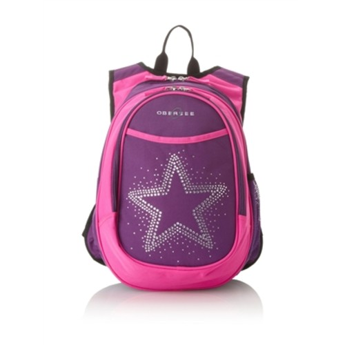 Obersee Kids Pre-School All-In-One Backpack With Cooler - Bling Rhinestone Star