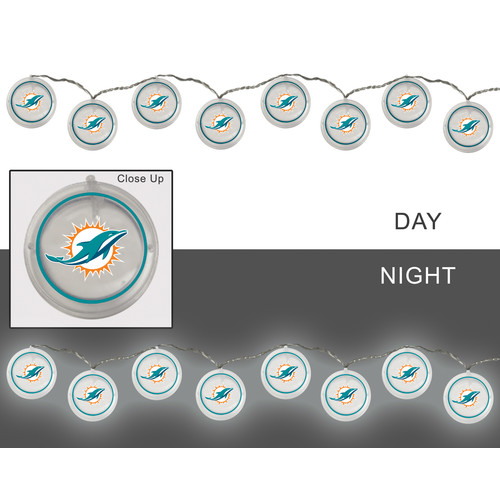 NFL String Lights - Miami Dolphins