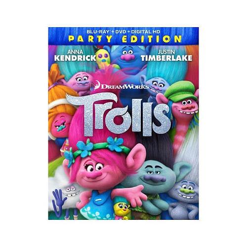Trolls Party Edition Blu-Ray Combo Pack (Blu-Ray/DVD/Digital HD)