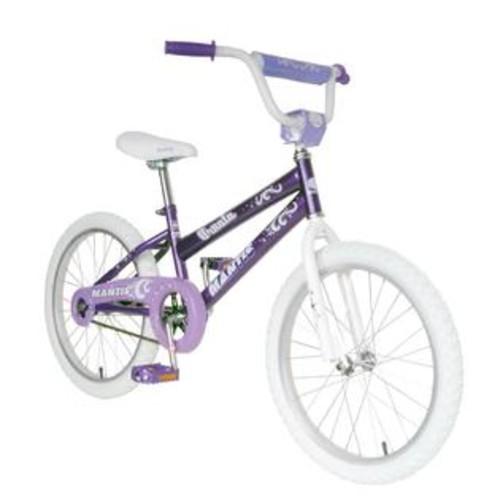 Mantis Girls 20 Inch Purple Ornata Bicycle w White Tires
