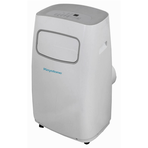 Keystone 12,000 BTU 115-Volt Portable Air Conditioner with Dehumidifier and Remote in White and Gray