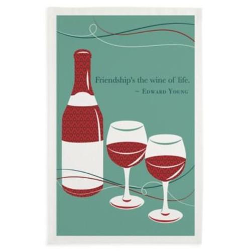 Friendship Wine Printed Dish Towels (Set of 3)