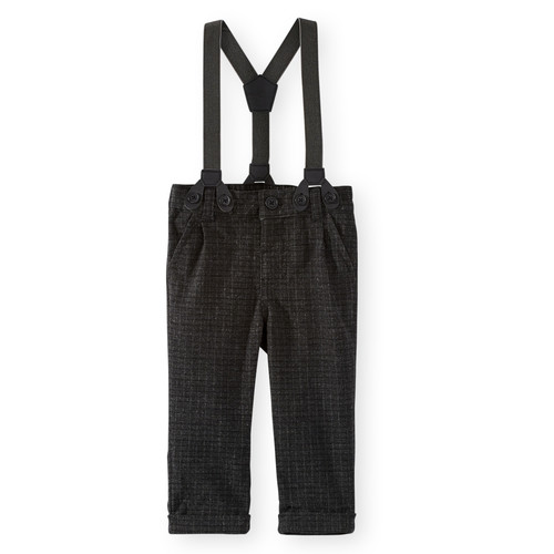 Koala Kids Black Pant with Suspenders