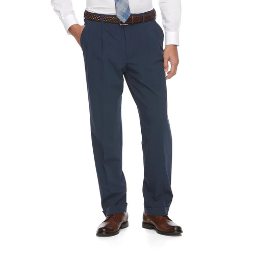 Big & Tall Croft & Barrow True Comfort 4-Way Stretch Classic-Fit Pleated Dress Pants