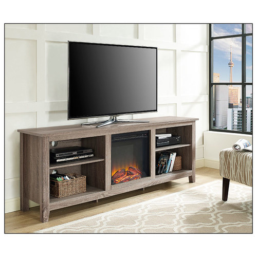 Walker Edison - Electric Fireplace for Most Flat-Panel TVs Up to 70