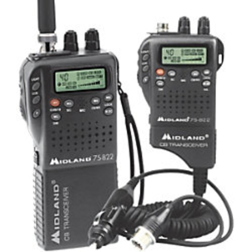 Midland CB Radio, 75-822, Black
