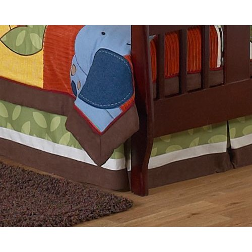 Sweet Jojo Designs Jungle Time Collection Toddler Bed Skirt