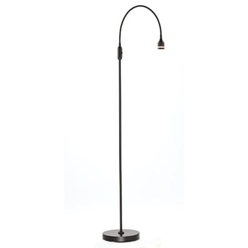 Adesso Prospect LED Floor Lamp, 56H, Black Shade, Black Base