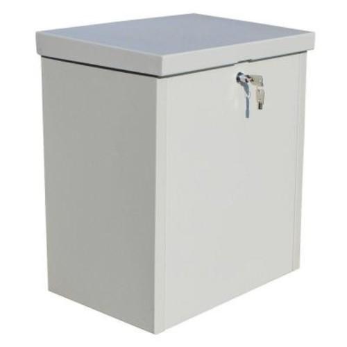 QualArc ParcelChest Textured Gray Wall Mount Locking Parcel Box