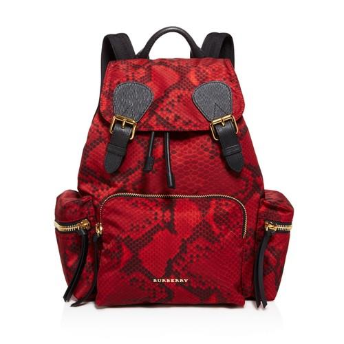 BURBERRY Medium Snakeskin Print Backpack