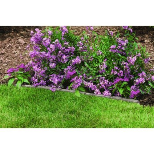 Suncast FSS36 35-Inch Resin Flagstone Interlocking Lawn Edging Strip - One Section [1]