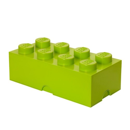 LEGO Storage Brick 8-Stud Bright Yellowish Green/Lime