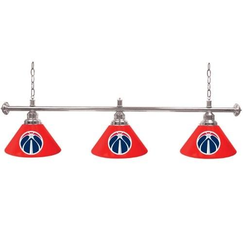 Washington Wizards NBA Shade Billiard Lamp - 60 inches - Game Room Products 3 Shade Bar Lamp NBA