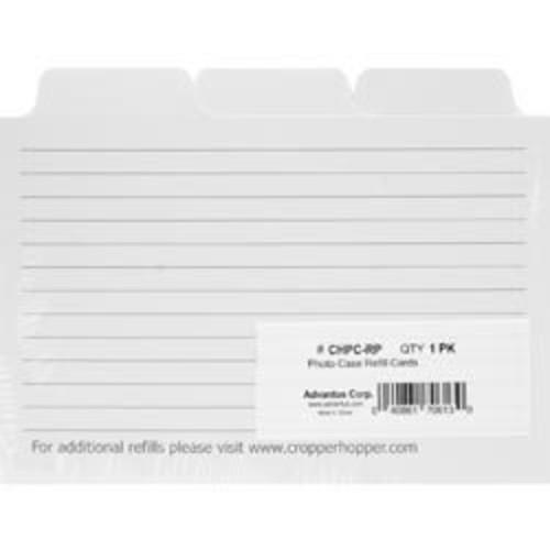 Bulk Buy: Advantus Cropper Hopper Photo Case Refill Cards 12/Pkg White 4