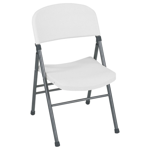 Cosco Home and Office Products 4-Pack Molded Seat & White Speckle Back Resin Folding Chair