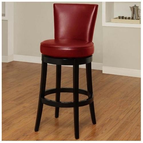 Boston Swivel Barstool - Color: Red, Seat Height: Bar (30
