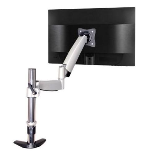 QualGear QG-DM-01-023 13-27 Inch Articulating Monitor Desk Mount with Spring Arm, Silver