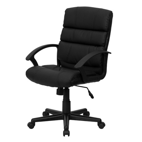 Flash Furniture Mid-Back Leather Swivel Task Chair