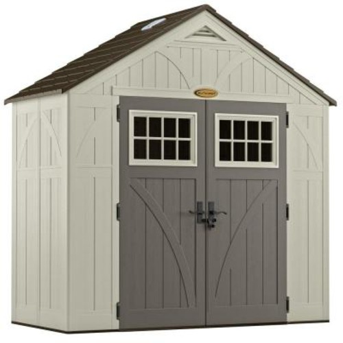 Suncast Tremont 4 ft. 3/4 in. x 8 ft. 4-1/2 in. Resin Storage Shed