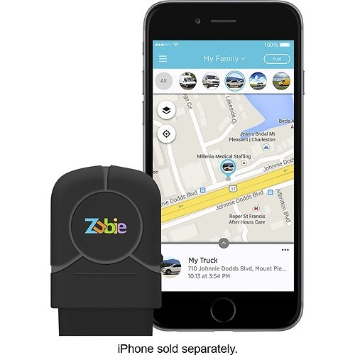 Zubie - In-Car Wi-Fi and Vehicle Monitoring Device - Black