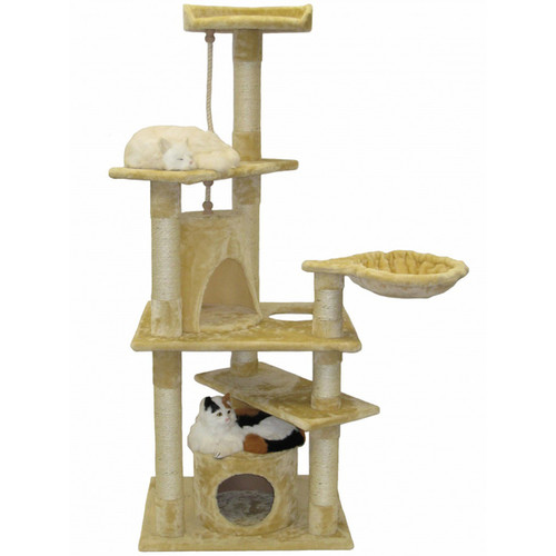 Go Pet Club 62-inch Condo Cat Tree Scratcher