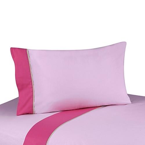 Sweet Jojo Designs Flower Queen Sheet Set in Pink/Green