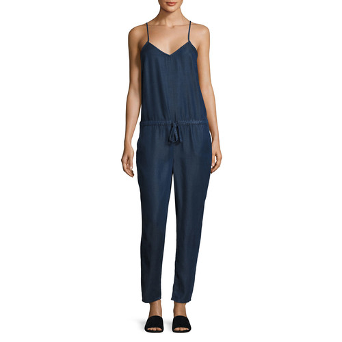 PAIGE DENIM Suki Sleeveless Drawstring Jumpsuit, Grier