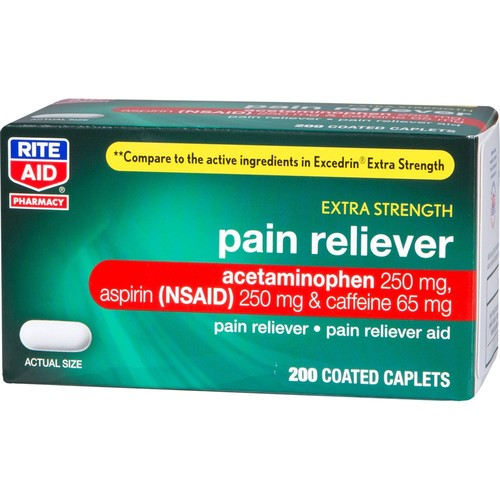 Rite Aid Extra Strength Pain Reliever, 200 Counts
