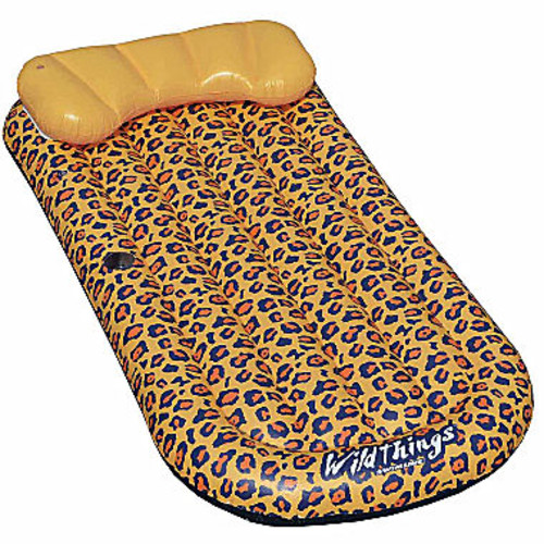 Swimline Wildthings Cheetah Lounge 69-in x 35-in Floating Pool Mattress