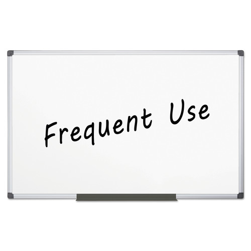 Mastervision Value Lacquered Steel Magnetic Dry Erase Board, 96