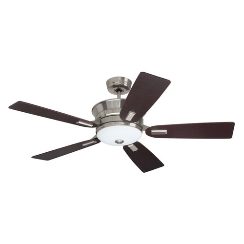 Emerson Ceiling Fans CF990BS Highgrove Indoor Ceiling Fan With Light And Remote, 53-Inch Blades, Brushed Steel Finish [Brushed Steel]