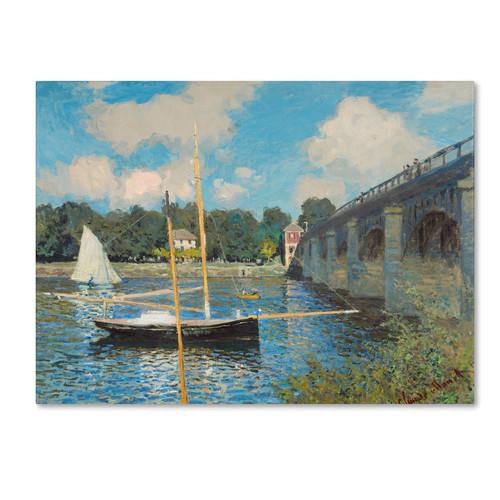 Trademark Global Claude Monet 'The Bridge at Argenteuil 1874' Canvas Art