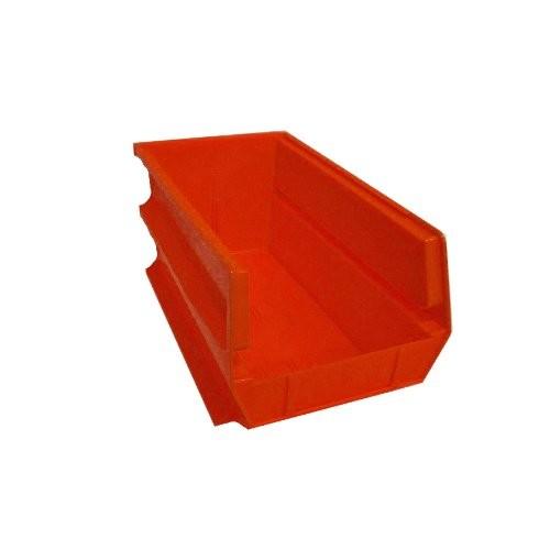 LocBin Triton Products LocBin 14-3/4 In. L x 8-1/4 In. W x 7 In. H Red Stacking, Hanging, Interlocking Polypropylene Bins, 6 CT 3-240R